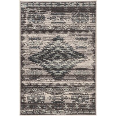 Miche Wabun Black/Beige Area Rug Rug Size: Rectangle 8 x 10