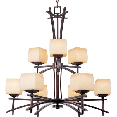 Coridan 9-Light Shaded Chandelier