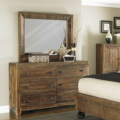 Gilman Ridge 6 Drawer Dresser with Mirror