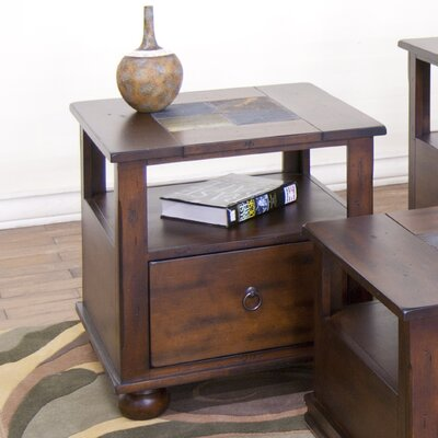 Fresno End Table Color: Dark Chocolate