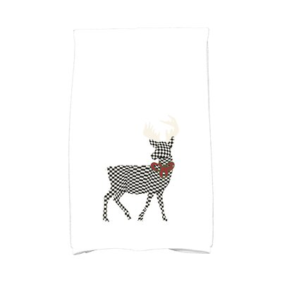 Merry Deer Hand Towel Color: White