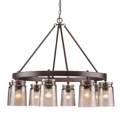 Rock River 8-Light Candle-Style Chandelier