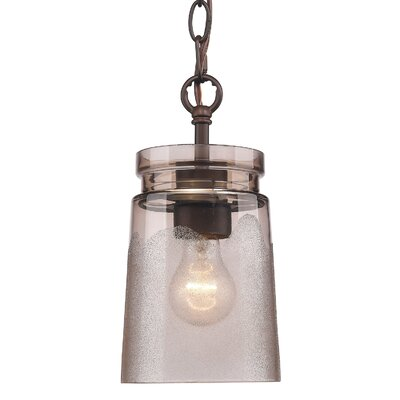 Rock River 1-Light Mini Pendant Finish: Etruscan Bronze, Shade Color: Frosted