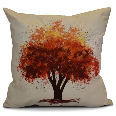 Brookfield Bounty Floral Euro Pillow Color: Brown