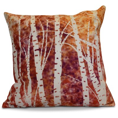 Brookfield Birch Trees Floral Throw Pillow Size: 16 H x 16 W x 2 D, Color: White