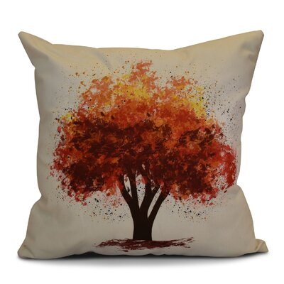 Brookfield Bounty Floral Outdoor Throw Pillow Size: 16 H x 16 W x 2 D, Color: Brown