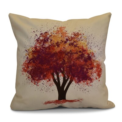 Brookfield Bounty Floral Outdoor Throw Pillow Size: 20 H x 20 W x 2 D, Color: Purple