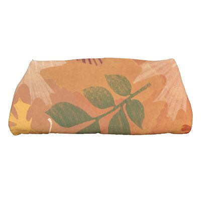Brookfield Watercolor Leaves Bath Towel Color: Rust
