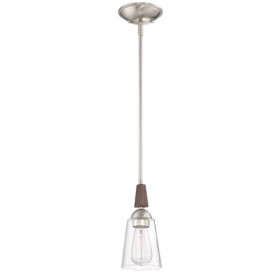 Chryses Brushed Nickel Single 1-Light Mini Pendant
