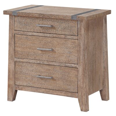 Crane 3 Drawer Nightstand