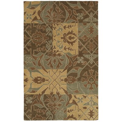 Pynchon Hand-Tufted Brown/Green Area Rug Rug Size: 5 x 8