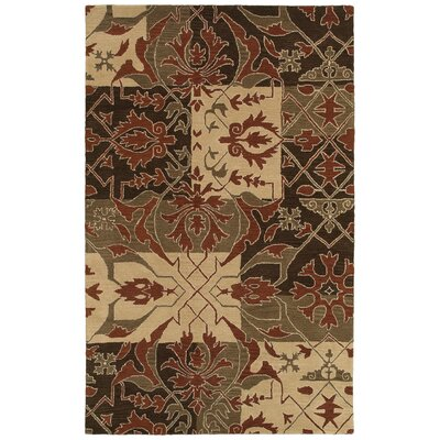 Moorpark Hand-Tufted Brown Area Rug Rug Size: Round 8