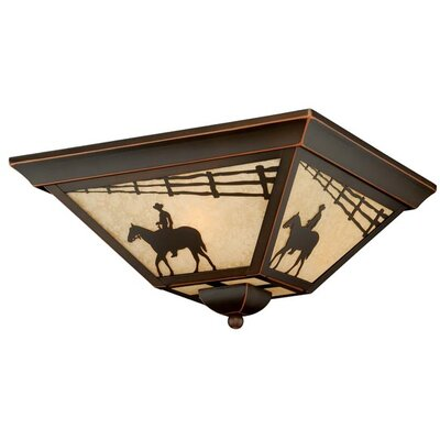 San Dimas 3-Light Flush Mount