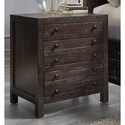 Tierra 3 Drawer Nightstand