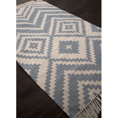 Boquillas Hand Hooked Blue/Ivory Indoor/Outdoor Area Rug Rug Size: 36 x 56