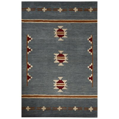 Cadoz Hand-Tufted Blue/Tan Area Rug Rug Size: 8 x 10
