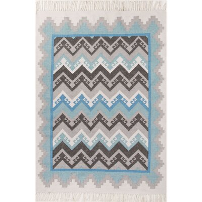 Boquillas Blue/Gray Indoor/Outdoor Area Rug Rug Size: 36 x 56