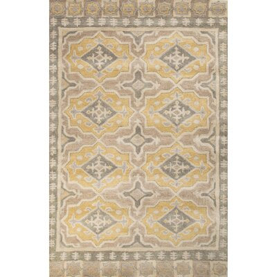 Caesars Hand-Tufted Gray/Yellow Area Rug Rug Size: 2 x 3