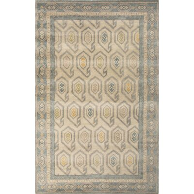 Caesars Hand-Tufted Ivory/Blue Area Rug Rug Size: Rectangle 8 x 11