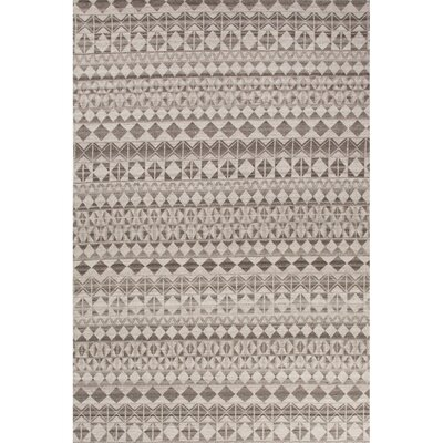 Caddo Gray/Black Area Rug Rug Size: Rectangle 5 x 8