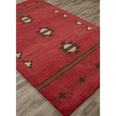 Cadoz Hand-Tufted Red/Gray Area Rug Rug Size: 5 x 8
