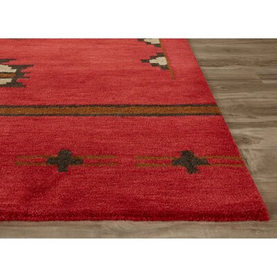 Zachary Red Rug Size: 8 x 10
