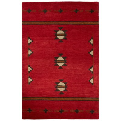 Zachary Red Rug Size: 2' x 3'