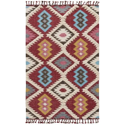 Calabasas Rose Wood/Milky Blue Area Rug Rug Size: 2 x 3