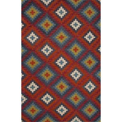Calipatria Wool Hand Tufted Red Area Rug Rug Size: 2 x 3