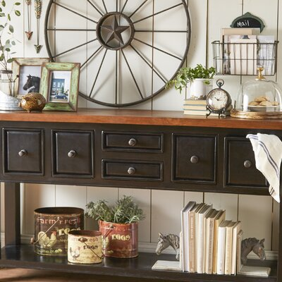 McAlester Console Table Finish: Black