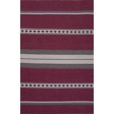 Camarillo Cotton Flat Weave Pink/Gray Area Rug Rug Size: 8 x 11