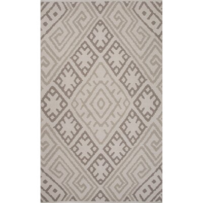 Camarillo Cotton Flat Weave Gray Area Rug Rug Size: 8 x 11