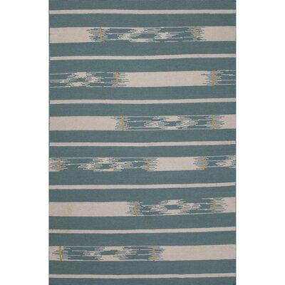 Camarillo Wool Flat Weave Blue/Ivory Area Rug Rug Size: 8 x 11