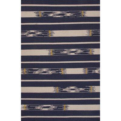 Camarillo Flat Weave Wool Blue/Ivory Area Rug Rug Size: 2 x 3