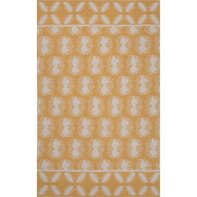 Camarillo Cotton Flat Weave Yellows/Ivory Area Rug Rug Size: 5 x 8