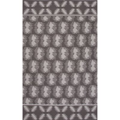 Camarillo Flat Weave Cotton Gray/Ivory Area Rug Rug Size: 5 x 8