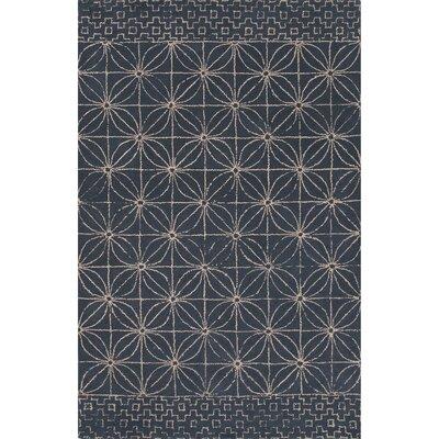 Camarillo Hand Tufted Wool Indigo Area Rug Rug Size: 5 x 8