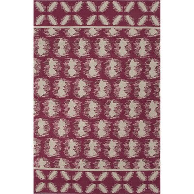 Camarillo Cotton Flat Weave Cotton Cordovan/Ivory Area Rug Rug Size: 5 x 8