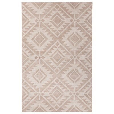 Cannes Hand-Tufted Tan Area Rug Rug Size: 5 x 8