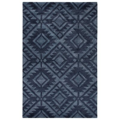 Cannes Hand-Tufted Blue Area Rug Rug Size: 96 x 136