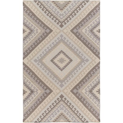 Hand-Woven Gray/Taupe Area Rug Rug Size: 6 x 9