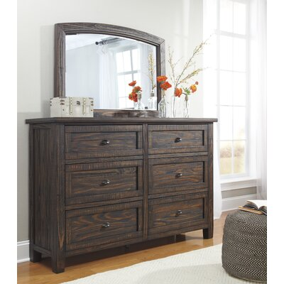 Sheraden 6 Drawer Dresser with Mirror