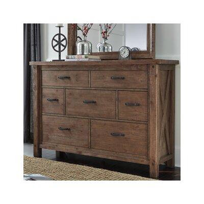 Saranac 7 Drawer Dresser with Mirror