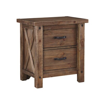 Saranac 2 Drawer Nightstand