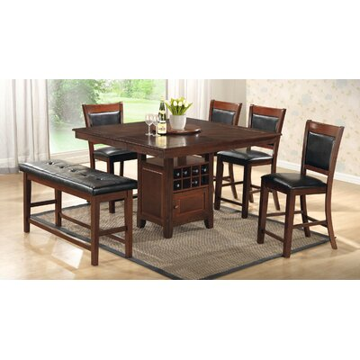 Brillion 7 Piece Dining Set Finish: Brown