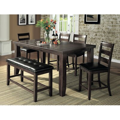Bridlewood 6 Piece Dining Set Finish: Gray