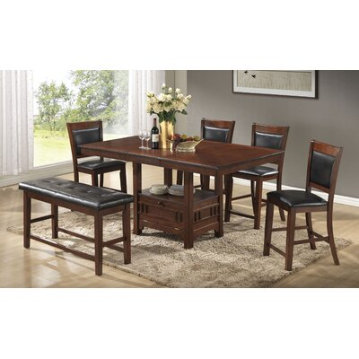 Brink 6 Piece Dining Set Finish: Brown