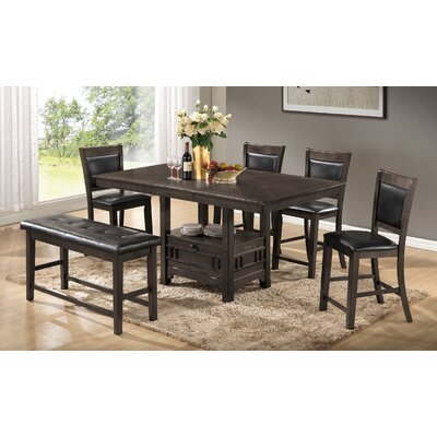 Dor 6 Piece Dining Set Finish: Gray