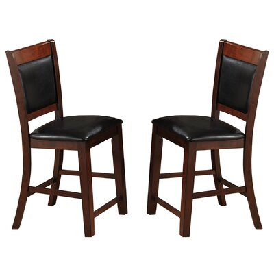 Bridlewood Counter Height Side Chairs Finish: Brown