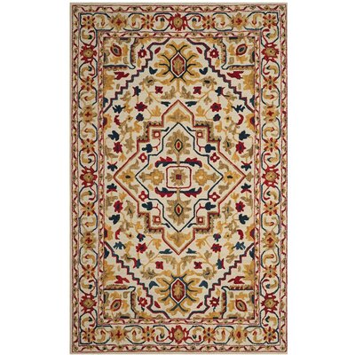 Aldwich Hand-Tufted Multi-Color Area Rug Rug Size: Rectangle 4 x 6
